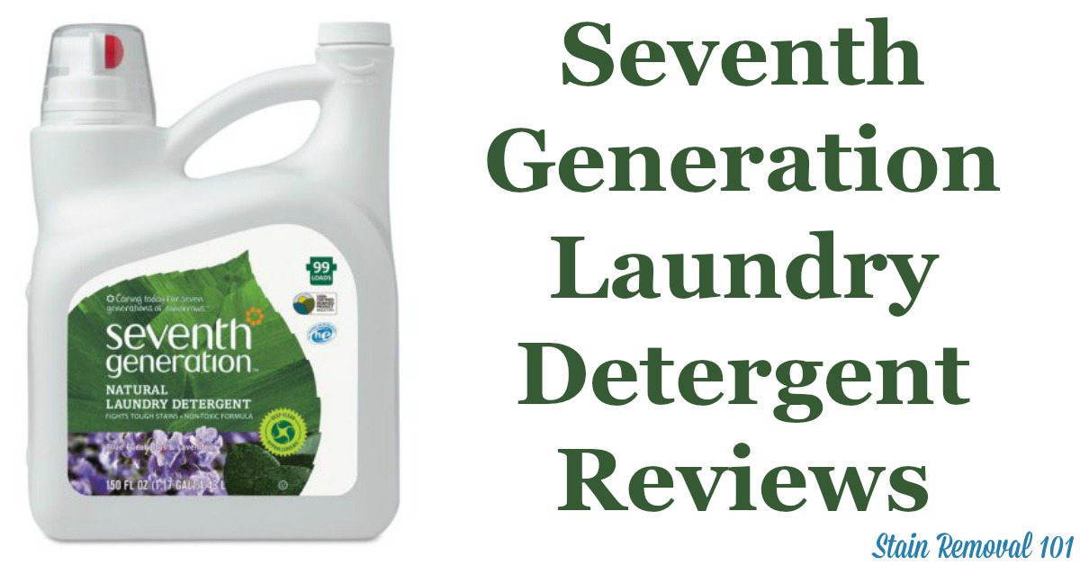 Here is a comprehensive guide about Seventh Generation laundry detergent, including reviews and ratings of this brand of natural laundry supply, including different scents and varieties {on Stain Removal 101}