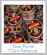 shoe polish stain removal