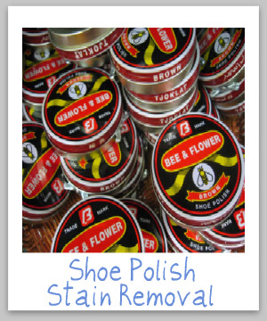 How To Remove Shoe Polish Stains