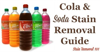 Cola and soda stain removal guide