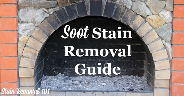 Step by step instructions for soot stain removal for clothing