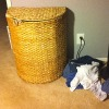 clothes outside laundry hamper