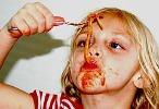 spaghetti sauce mess