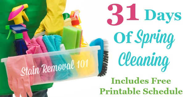 31 days of spring cleaning: get the plan here