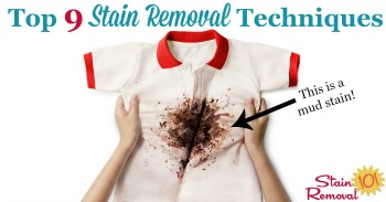 Top 9 stain removal techniques