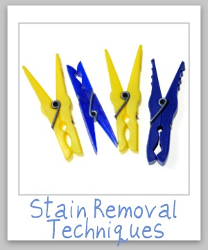 Top 9 stain removal techniques for removing virtually any type of stains {on Stain Removal 101}