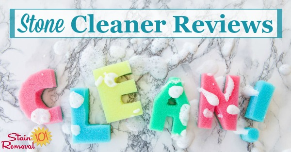 Here is a round up of stone cleaner reviews to find out which products work best for cleaning stone such as marble, granite, limestone, slate and sandstone, and which should stay on the store shelf {on Stain Removal 101}