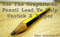use the graphite in pencil lead to help unstick a zipper