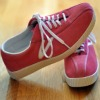 pink suede tennis shoes
