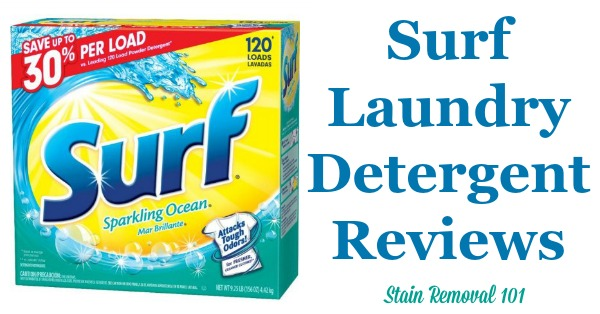 Here is a comprehensive guide about Surf laundry detergent, including reviews and ratings of this brand of laundry supply, including different scents and varieties {on Stain Removal 101}