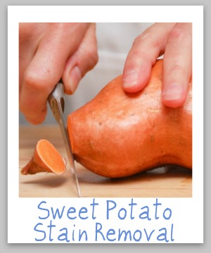 sweet potato stain removal