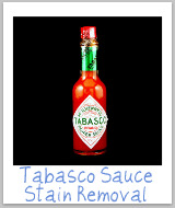 tabasco stains