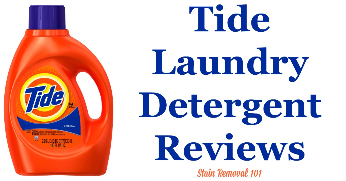 Here is a comprehensive guide about Tide detergent, including reviews and ratings of this brand of laundry supply, including different scents and varieties {on Stain Removal 101}