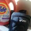 volleyball knee pads and Tide with Febreze