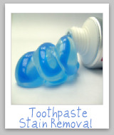 toothpaste stains