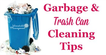 Garbage and trash can cleaning tips
