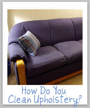 upholstery care guide For cleaning your car upholstery, you will need a shop vacuum or a steam cleaner, a spray bottle, a scrub brush, and our car upholstery cleaner  find tips on .
