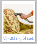 upholstery stains 101