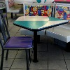 fast food restaurant table