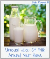 unusual uses of milk around your home