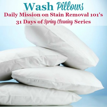 wash pillows