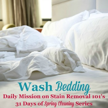 wash bedding