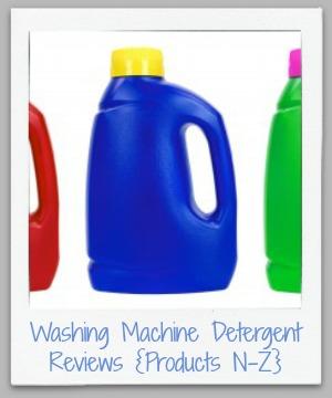 washing  machine detergent reviews