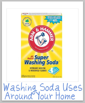 How to use washing soda in your laundry and for cleaning your home {on Stain Removal 101}