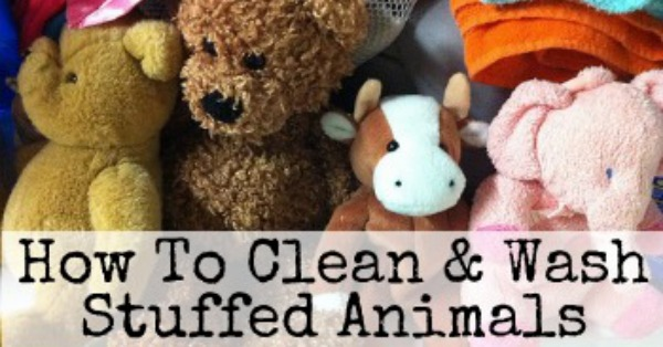 How to instructions for cleaning and washing stuffed animals using the washing machine, hand washing and spot cleaning (with homemade cleaning recipe too!), and how to dry them as well {on Stain Removal 101}