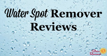 Water spot remover reviews