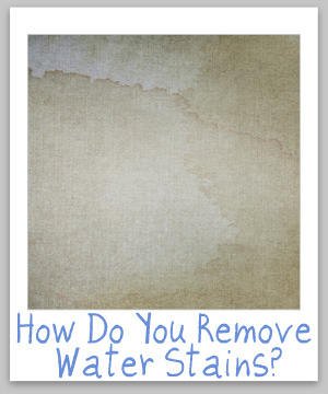 water stain removal
