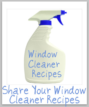 window cleaner recipes