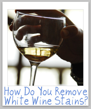 Tips For How To Remove White Wine Stains