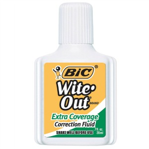 Wite-Out correction fluid