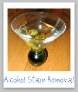 stain removal alcohol