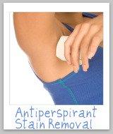 antiperspirant stain removal
