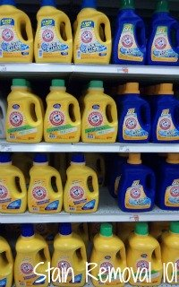 Reviews of Arm & Hammer laundry detergent, in many different varieties, scents and types {on Stain Removal 101}