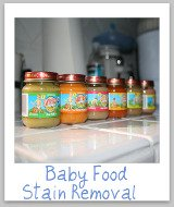 how to remove baby food stains