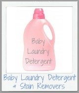 baby laundry detergent and stain removers