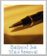 remove ballpoint pen stain