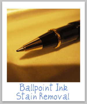 ballpoint ink stain removal