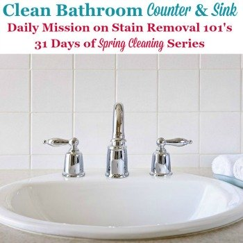 Deep Clean Bathroom Counters And Sinks