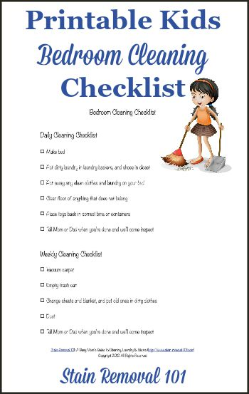Bedroom Cleaning Checklist Help Kids Know Expectations For This Chore