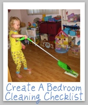 create a bedroom cleaning checklist