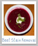beet stains