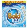 bold crystal rain and white lily powder detergent