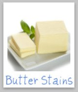 removing butter stains