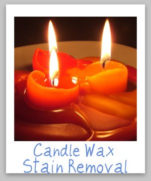 candle wax stain removal