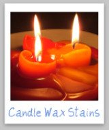 candle wax stains