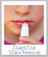 lip balm stain removal